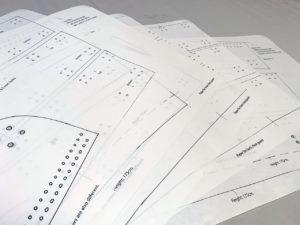 Paper patterns for samurai armor